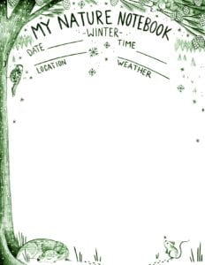 Nature-Notebook-Winter-Green
