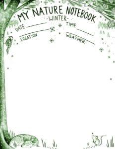 Nature-Notebook-Winter-Green